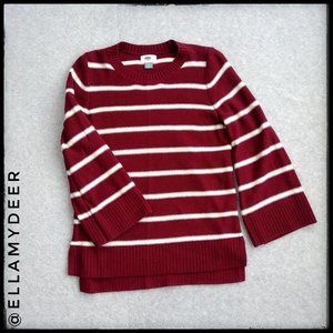 Old Navy Striped Hi Lo Sweater